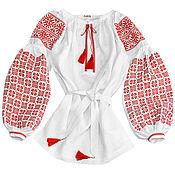 """Одежда handmade. Livemaster - original item Туника с вышивкой """"Красные Звезды"""". Handmade."""