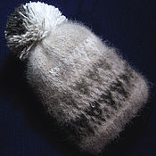 Caps manualidades. Livemaster - hecho a mano Children`s knitted hat with pompom. Handmade.