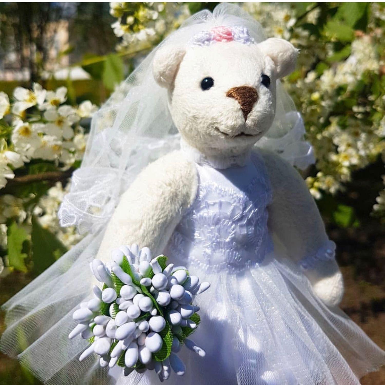 Свадебная мишка тедди Бланш, Мишки Тедди, Москва,  Фото №1