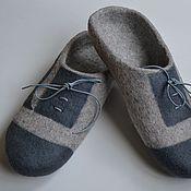 Обувь ручной работы. Ярмарка Мастеров - ручная работа тапочки -шлепки для мужчин. Handmade.