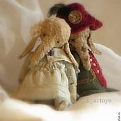 Куклы и игрушки ручной работы. Ярмарка Мастеров - ручная работа Слоник тедди Маша( Щелкунчик или волшебный сон). Handmade.