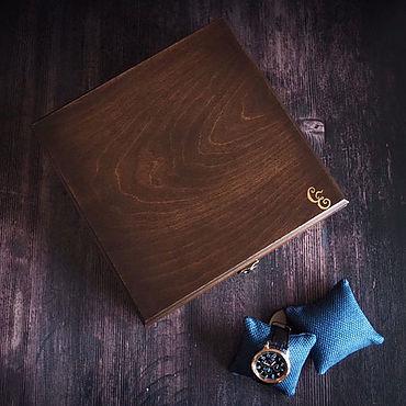 Для дома и интерьера ручной работы. Ярмарка Мастеров - ручная работа Шкатулка для мужских часов, запонок и очков.. Handmade.