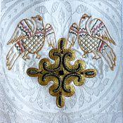 Русский стиль ручной работы. Ярмарка Мастеров - ручная работа Золотное церковное шитье. Handmade.