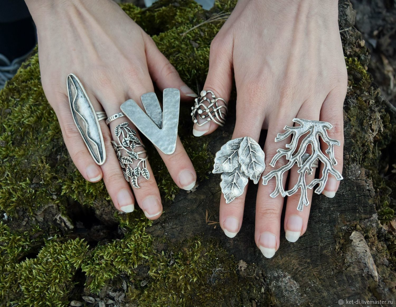 Silvered boho rings, Rings, Moscow,  Фото №1