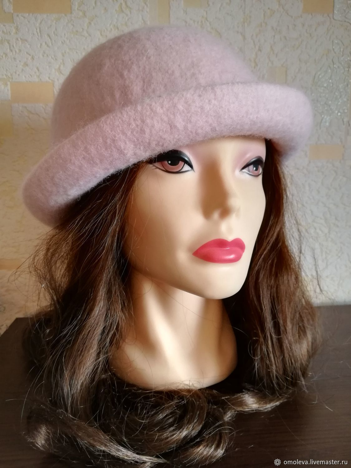 Felted hat 'Pink roses', Hats1, Minsk,  Фото №1