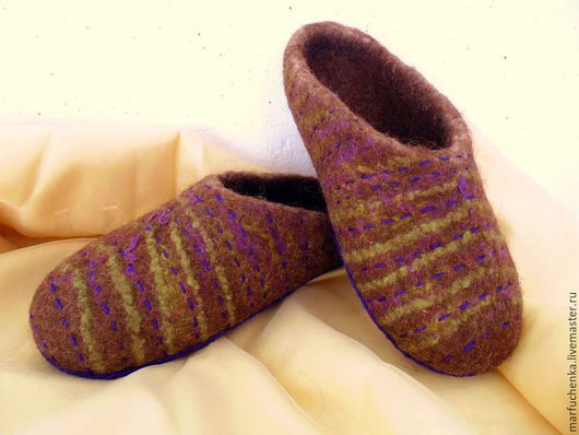 Обувь ручной работы. Ярмарка Мастеров - ручная работа. Купить Просто тапочки. Handmade. Тапочки ручной работы, тапочки женские