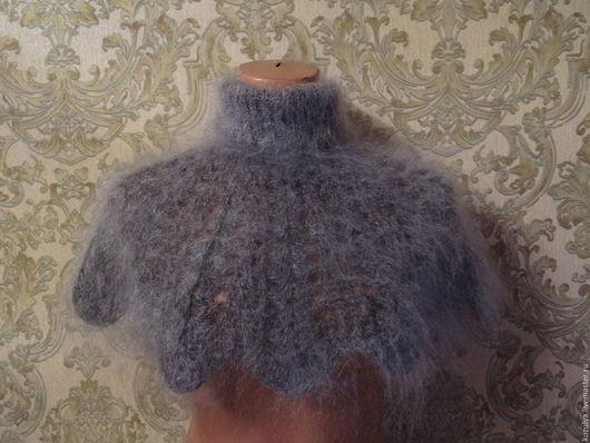 Аксессуар ручной работы.Манишка пуховая вязанная.`Пуховое царство` от Татьяны.Ярмарка мастеров.