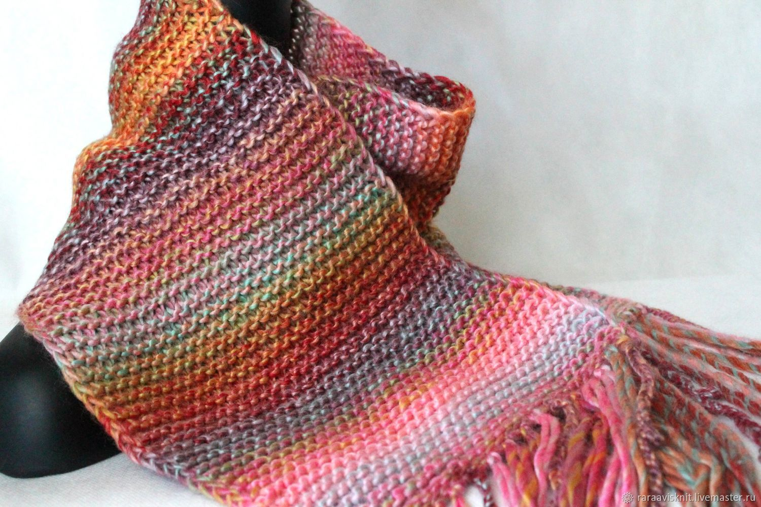 scarf, knitted scarf,ladies knitted scarf, buy scarf, scarf with tassels