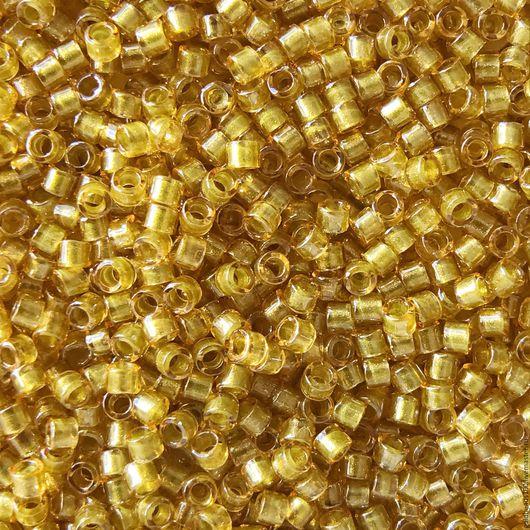 Для украшений ручной работы. Ярмарка Мастеров - ручная работа. Купить 10 ГР MIYUKI DELICA 11/0 DB911 color-lined light mustard 10гр. Handmade.