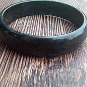 Украшения ручной работы. Ярмарка Мастеров - ручная работа Черный браслет из цельного агата. Handmade.