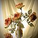 Букеты ручной работы. Ярмарка Мастеров - ручная работа. Купить Цветы из ткани. Интерьерный букет из шёлковых роз. Handmade.
