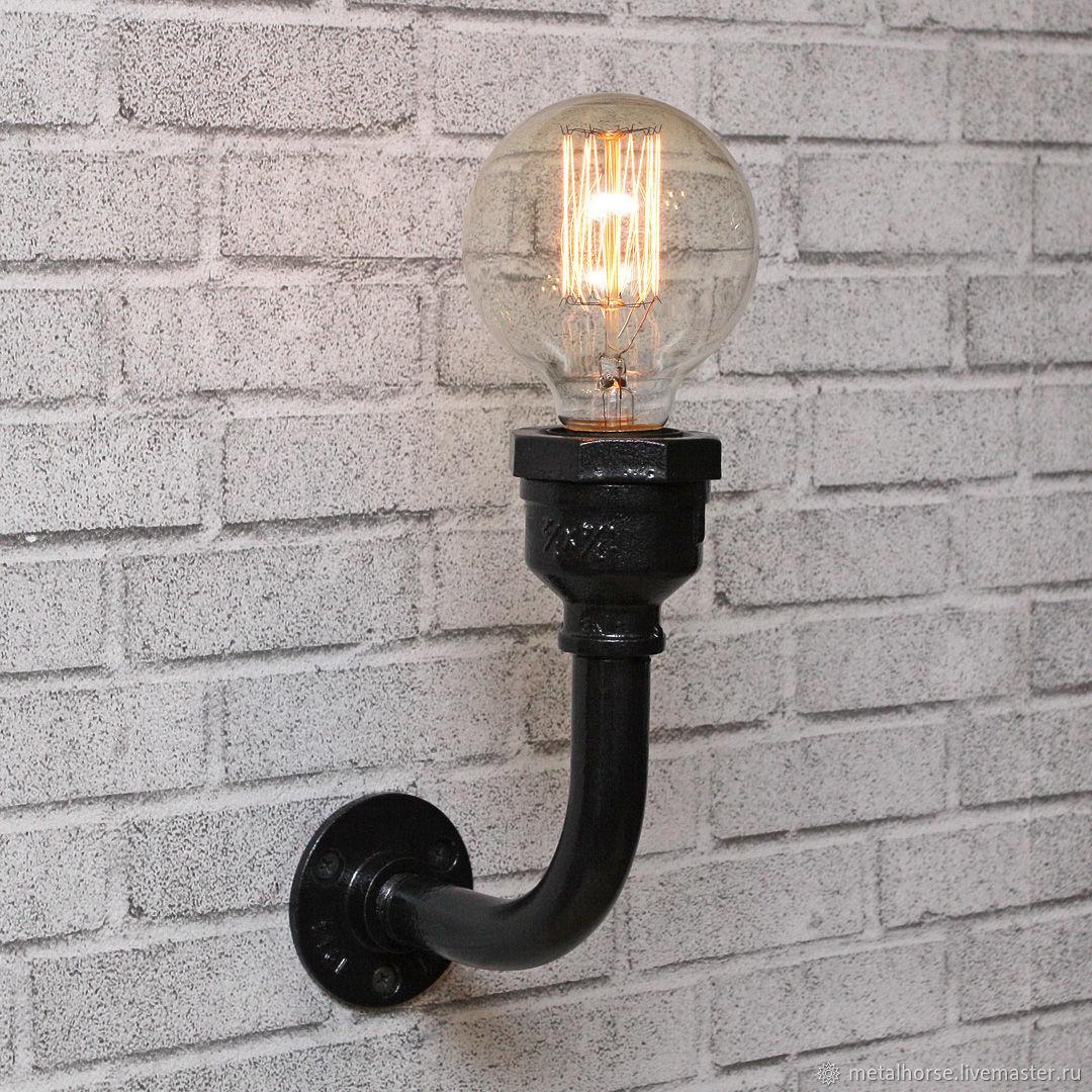 Настенный светильник в стиле лофт, индастриал, стимпанк, ретро, Бра, Москва,  Фото №1
