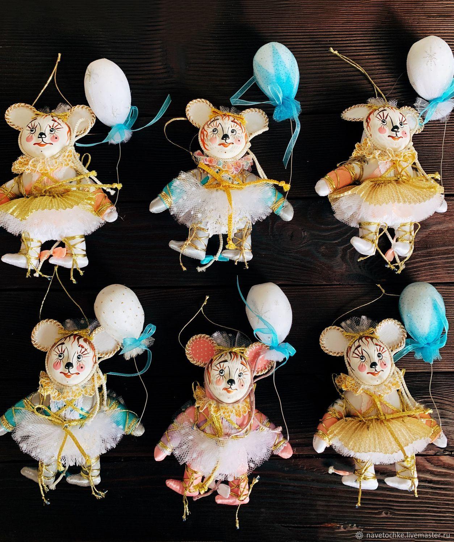 Елочная игрушка МЫШКА, Елочные игрушки, Москва,  Фото №1