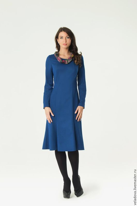 """Платья ручной работы. Ярмарка Мастеров - ручная работа. Купить Платье Годе """"Синее"""". Handmade. Синий, платье годе, годэ"""