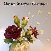 Цветы ручной работы. Ярмарка Мастеров - ручная работа Букетик роза гипсофила. Handmade.
