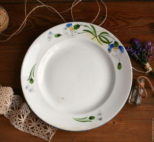 Винтажная посуда. Ярмарка Мастеров - ручная работа. Купить Тарелка 40-х Конаково. Handmade. Комбинированный, ручная роспись, зик