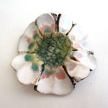 """Украшения ручной работы. Ярмарка Мастеров - ручная работа Броши """"Oriental"""", керамика. Handmade."""