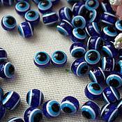 Материалы для творчества ручной работы. Ярмарка Мастеров - ручная работа Бусины-глазки 10 мм синий. Handmade.