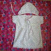 Работы для детей, ручной работы. Ярмарка Мастеров - ручная работа Крестильный комплект. Handmade.