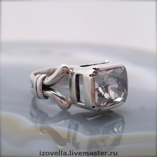 Rings handmade. Livemaster - handmade. Buy Ring 'Monogram' - white Topaz, silver.925 sterling silver, white