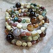 Украшения handmade. Livemaster - original item The multi-row Agate bracelet of a different kind - the MYSTERY of the FOREST. Handmade.