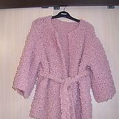 """Одежда ручной работы. Ярмарка Мастеров - ручная работа Жакет """"Пыльная роза"""" из пряжи букле. Handmade."""