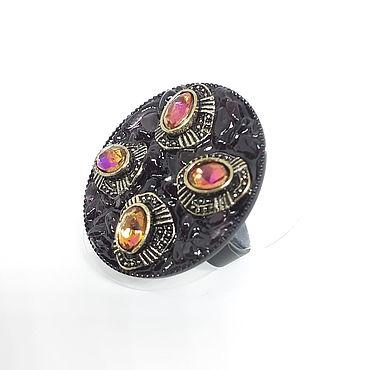 Decorations handmade. Livemaster - original item Author`s ring with garnet