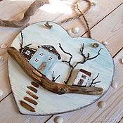 """Подвесы для кашпо ручной работы. Ярмарка Мастеров - ручная работа Подвеска сердечко """"Дом, где всегда тебя ждут"""". Handmade."""