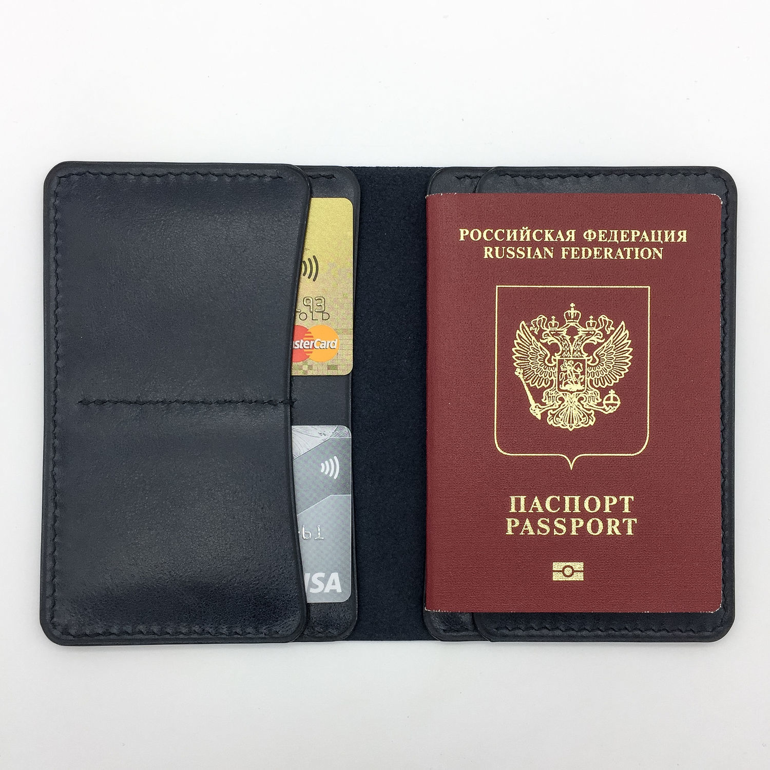 Passport cover/Organizer for documents made of genuine leather, Passport cover, Yaroslavl,  Фото №1