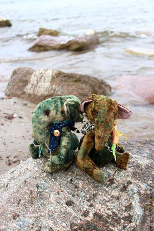 Мишки Тедди ручной работы. Ярмарка Мастеров - ручная работа. Купить Слоняши Оля и Толя. Handmade. Болотный, морская тема