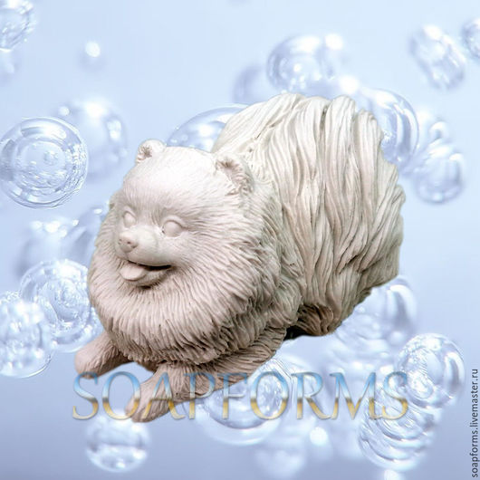 Силиконовая форма для мыла `Шпиц` 3D