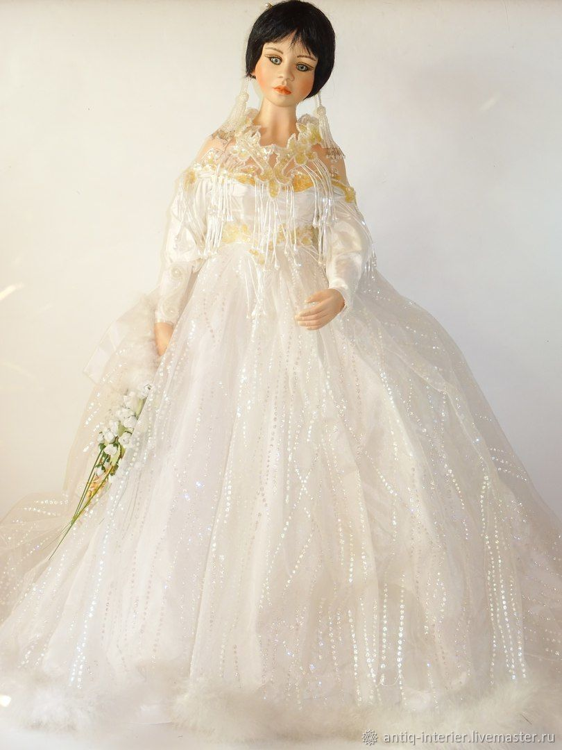 Collectible rare doll-bride from Brigitte Von Messne, Vintage interior, Kaliningrad,  Фото №1