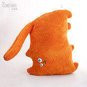 Для дома и интерьера handmade. Livemaster - original item Velour pillow toy Red Cat. Handmade.