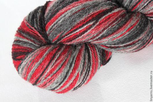Вязание ручной работы. Ярмарка Мастеров - ручная работа. Купить KAUNI Artistic Yarn Grey Red 8/2. Handmade. Кауни