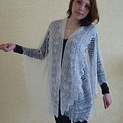 Аксессуары handmade. Livemaster - original item 44 down drapery snow white charm shawls stoles Cape. Handmade.