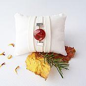 Украшения ручной работы. Ярмарка Мастеров - ручная работа Простой браслет с камнем Бело-рыжеватый. Handmade.