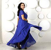 """Одежда ручной работы. Ярмарка Мастеров - ручная работа Легкое платье """"Невозможно-синий"""". Handmade."""