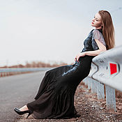 """Одежда ручной работы. Ярмарка Мастеров - ручная работа Платье валяное """"Летние грозы"""" нунофелтинг. Handmade."""