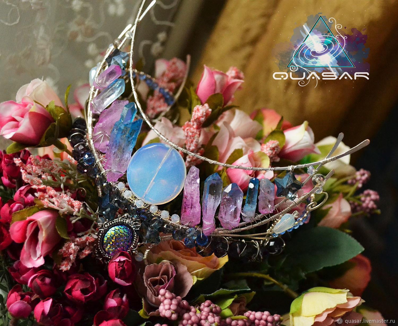 """Корона """"La Luna"""" с кристаллами кварца, Диадемы, Кемерово,  Фото №1"""