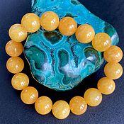 Фен-шуй и эзотерика handmade. Livemaster - original item Azeztulite Gold Bracelet of the Himalayas 12 mm. Handmade.
