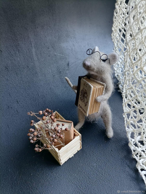 Крыса из шерсти (войлочная игрушка), Войлочная игрушка, Тюмень,  Фото №1