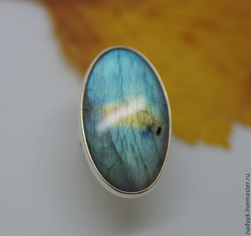 Ring with labradorite, Madagascar, silver, Rings, Moscow,  Фото №1
