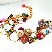 """Украшения ручной работы. Ярмарка Мастеров - ручная работа """"Рио"""" Браслет разноцветный, браслет самоцветы, яркий браслет купить. Handmade."""