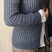 """Одежда ручной работы. Ярмарка Мастеров - ручная работа Жакет """"Дымчатая клеточка"""". Handmade."""