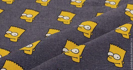 """Шитье ручной работы. Ярмарка Мастеров - ручная работа. Купить Джинс с рисунком """"Симпсоны"""". Handmade. Комбинированный, джинсовая ткань, джинсовка"""