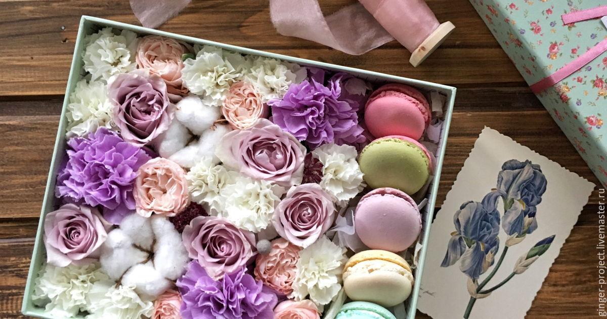 Коробочка с цветами мастер