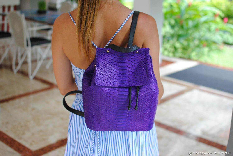 Python skin backpack Fashion Purple, Backpacks, Moscow,  Фото №1