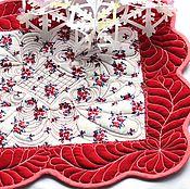 Для дома и интерьера ручной работы. Ярмарка Мастеров - ручная работа Стеганая салфетка. Handmade.