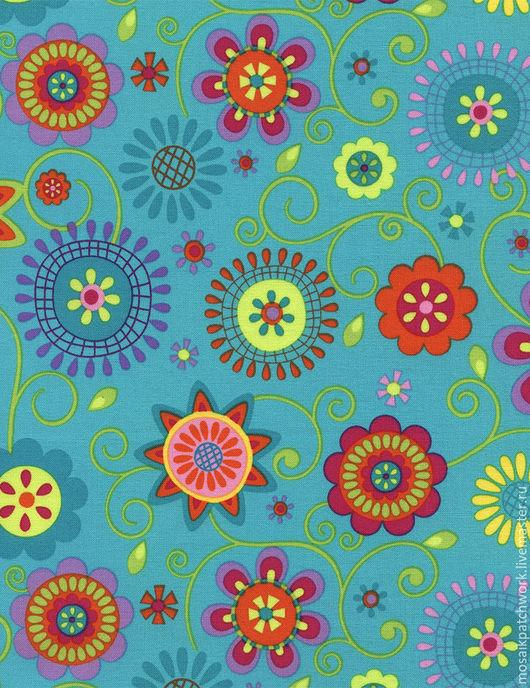 """Шитье ручной работы. Ярмарка Мастеров - ручная работа. Купить Хлопок америки """"Цветочный мотив"""". Handmade. Комбинированный, цветочный рисунок"""