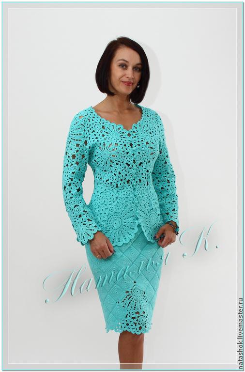 Ирландское кружево платье костюм